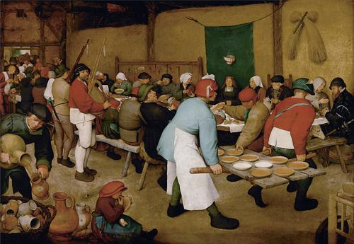 Pieter Bruegel the Elder, Peasant Wedding, 1563.