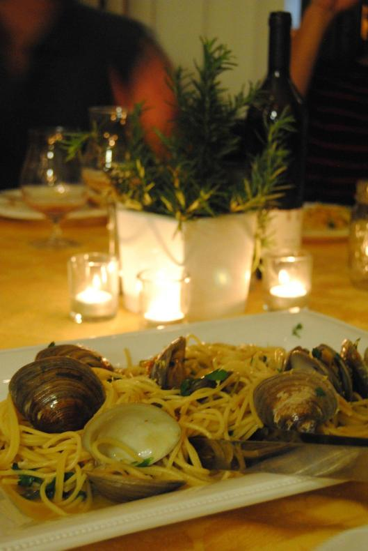 Spaghetti alle vongole for my birthday Italian Piazza