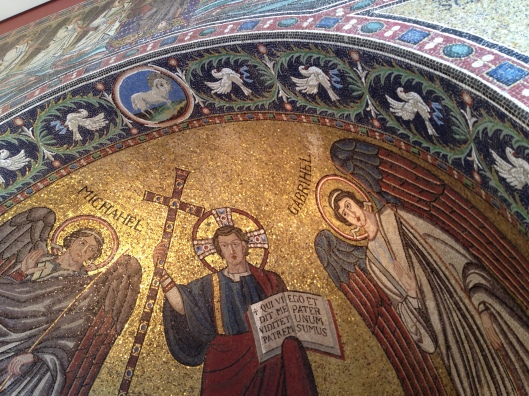 Mosaic apse from Ravenna, Italy, year 545.
