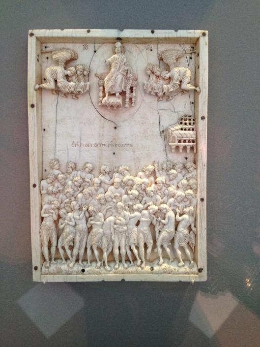 Ivory panel, looks like The Last Judgment.