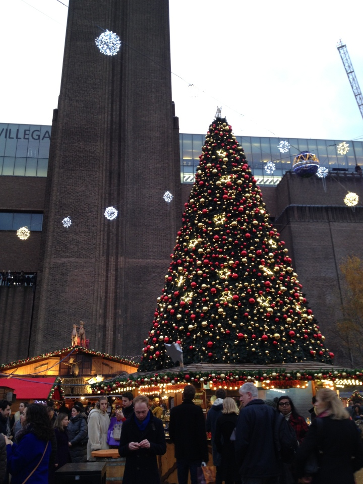 Christmas market, Tate Modern, London.